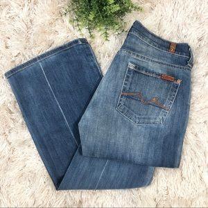7FAM | Women's Boy Cut Flare Jeans 26